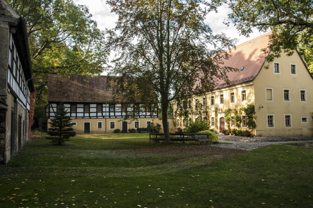 Fachwerkhäuser des Pfarrhofs